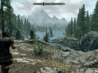 Skyrim's landscape manages some genuinely breathtaking moments.