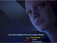 That's not just afterglow. Asari are always brilliantly blue.